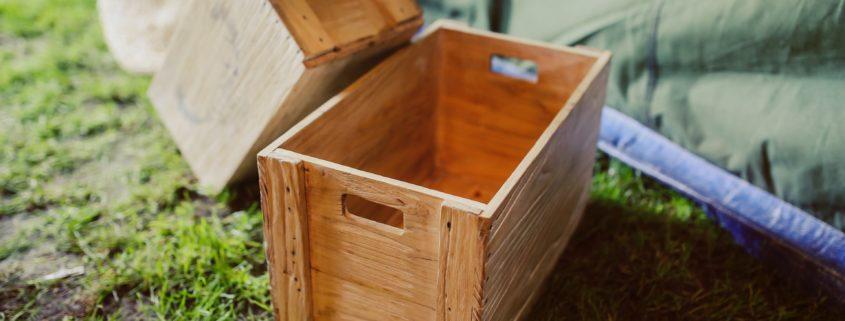 drewniana skrzynia pakobud
